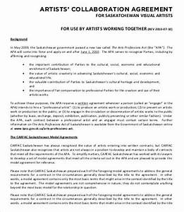 artist contract template 13 free word pdf documents With collaboration contract template
