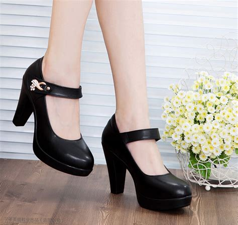 comfortable black pumps 2014 high heels pumps ol comfortable genuine