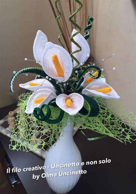 composizioni fiori uncinetto pin di rossie francis su crochet flower arrangements