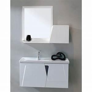 Meuble Salle De Bain 90 : meuble de salle de bain meuble suspendu 90 cm achat vente salle de bain complete meuble de ~ Teatrodelosmanantiales.com Idées de Décoration