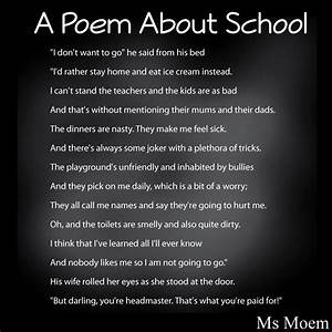 A Poem About School | Ms Moem | Poems. Life. Etc.