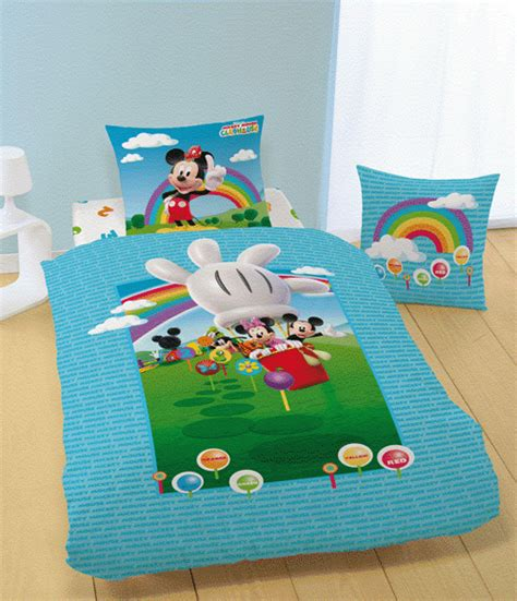 drap housse mickey club house 90 x 190 200 plushtoy
