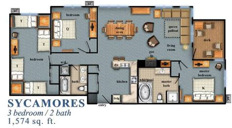 plans for homes sycamores 3 bedroom