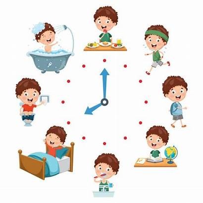 Daily Routine Illustration Activities Routines Vector Royalty