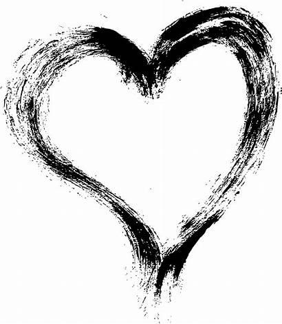 Heart Brush Stroke Grunge Transparent Onlygfx Paint