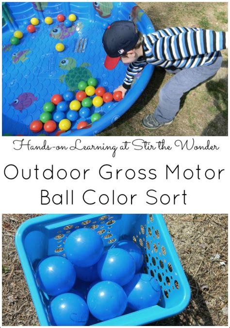 outdoor gross motor color sort stir the 412 | Ball Color Sort 2