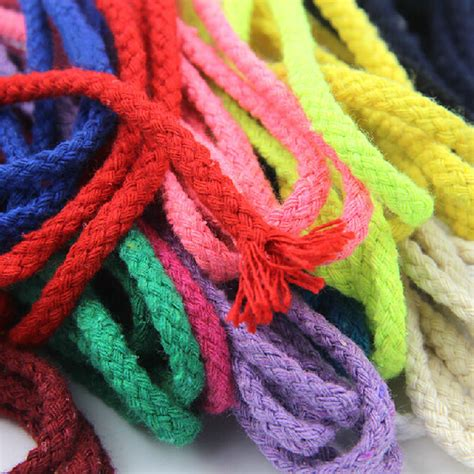 colored cotton rope 5 6mm handmade braided cotton rope colored decorative