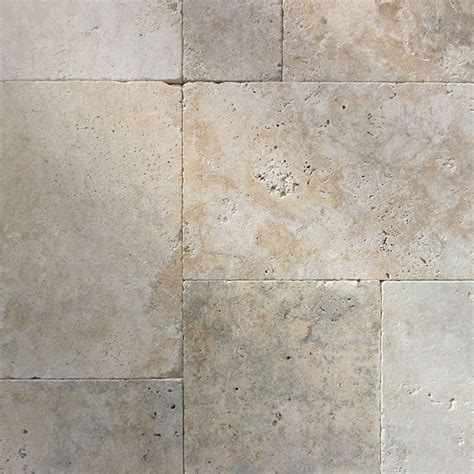 only 63 m2 french pattern grano mix tumbled travertine paver