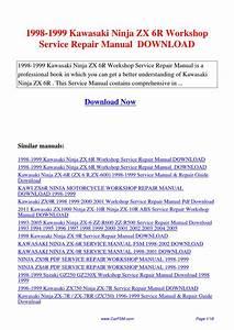 1998-1999 Kawasaki Ninja Zx 6r Workshop Service Repair Manual By Hui Zhang