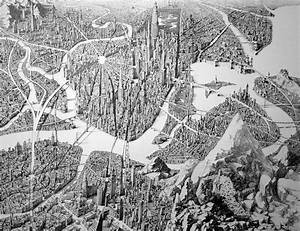 Jaw dropping pen and ink cityscapes that seem to sprawl for The sprawling pen and ink cityscapes of ben sack