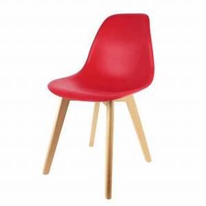 Chaise Scandinave Rouge : chaise scandinave the home deco factory coque polypropyl ne rouge m2 achat prix fnac ~ Teatrodelosmanantiales.com Idées de Décoration