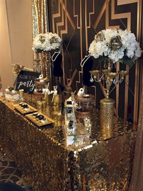 awesome decorations great gatsby party ideas black