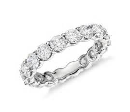platinum wedding band with diamonds classic eternity ring in platinum 3 ct tw blue nile
