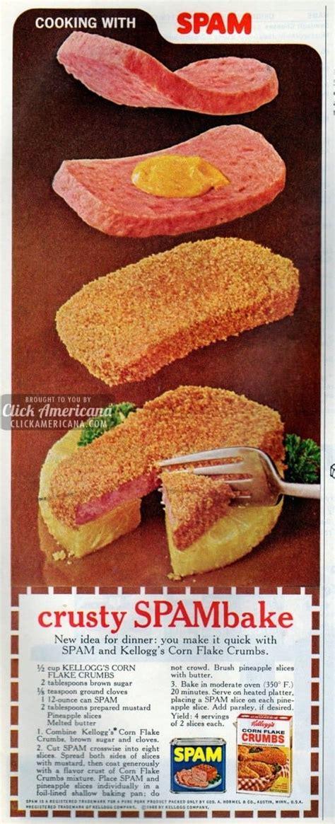 crusty spambake recipe  click americana