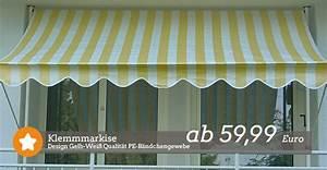 Klemmmarkise 300 Cm Breit : klemmmarkise ~ Eleganceandgraceweddings.com Haus und Dekorationen