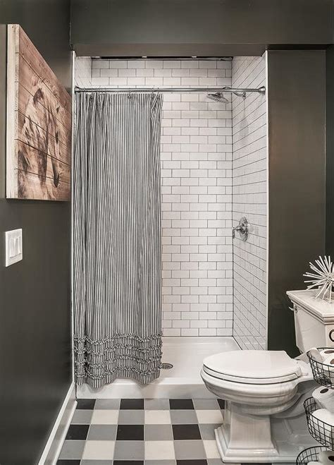 bathroom tile ideas black and white walk in shower curtain size curtain menzilperde