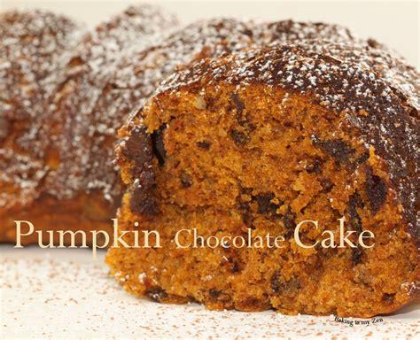 baking is my zen pumpkin chocolate cake fall comfort