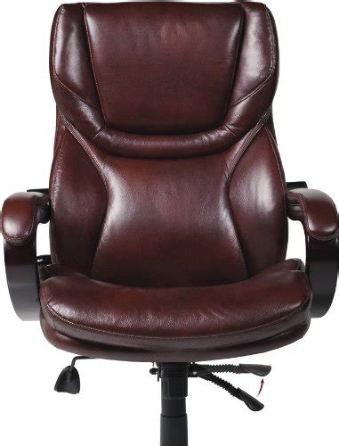 serta bonded leather big executive chair brown