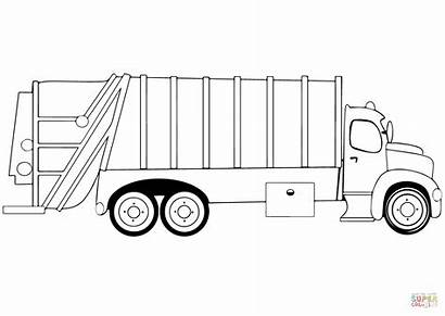 Truck Coloring Camion Garbage Trash Trucks Colorare