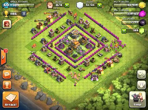 Hybrid Level 7 town hall base - YouTube