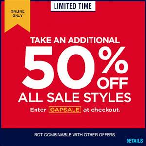 Gap Coupon Code  Extra 50  Off Clearance  U0026 Free Shipping
