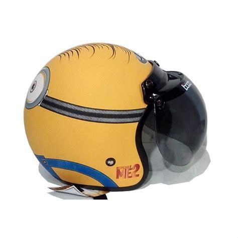 jual helm retro bogo klasik jpn minion shocked kuning