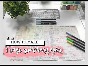 HOW TO MAKE 1 PAGE SUMMARY NOTES   studycollab - YouTube