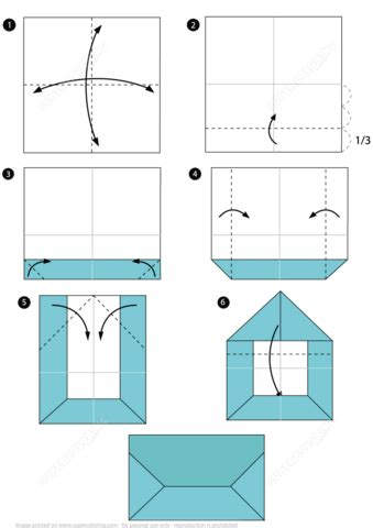 origami envelope instructions  printable papercraft