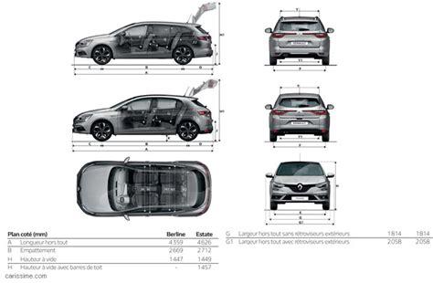 dimension coffre megane 3 estate renault megane 4 2016 carissime l info automobile