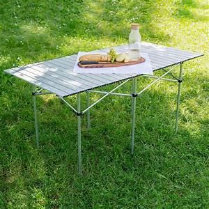 Table Camping Pliable : table de camping de jardin pliable pliante en aluminium portable xxl 140x70x70cm ebay ~ Farleysfitness.com Idées de Décoration