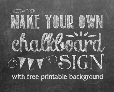 free chalkboard template how to make your own printable chalkboard sign yellow bliss road