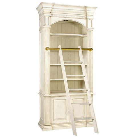 library bookcase with ladder percier french country white single library bookcase with