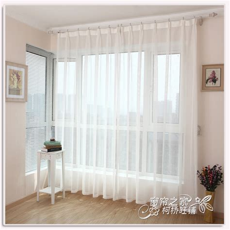 White Sheer Voile Curtains by Aliexpress Buy 6m 2 7m Free Shipping Finished