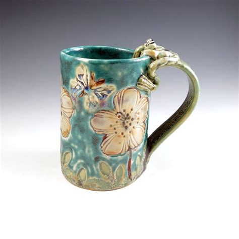 Handmade Poppy Ceramic Mug With Frog  Artizan Made. Countertops For Kitchens Prices. Best Color For A Kitchen With White Cabinets. Tile Backsplash For Kitchens. Vinyl Flooring For Kitchens Pros And Cons. Designer Kitchen Colors. Remodel Kitchen Countertops. Gray Glass Tile Kitchen Backsplash. Backsplashes For Kitchen