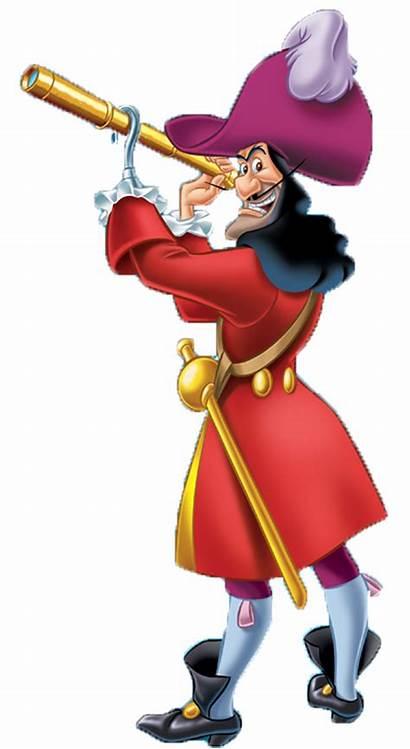 Hook Captain Clipart Pan Peter Disney Wendy