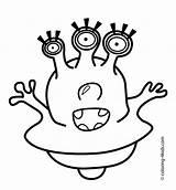 Alien Coloring Pages Eyes Printable Aliens Scary Three Drawing Face Template Clipart Sheets Space Print Templates Eye Easy Getdrawings Getcolorings sketch template