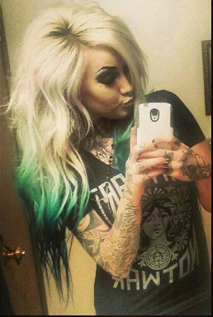 Best 25 Black And Green Hair Ideas On Pinterest Emerald