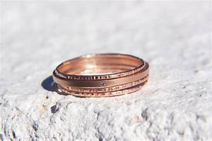 unique wedding bands on etsy stackable rose gold onewedcom With unique stackable wedding rings