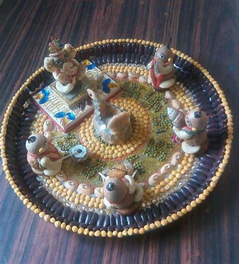 ganpati decoration ideas thali decoration ideas