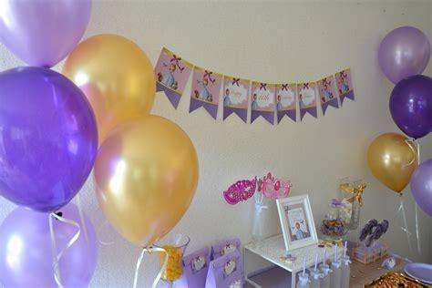 anniversaire princesse sofia organisation baby shower