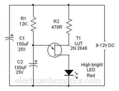 Led Using Capacitors For Flashing Lights Electrical