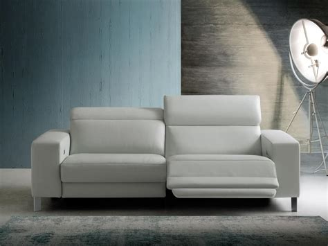 Sofa With Relax Function, Leather Upholstery