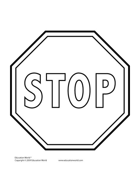 stop sign template tools templates gt traffic signs education world