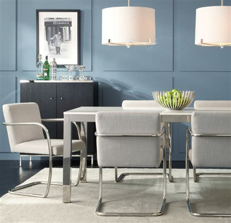 classic parsons style dining modern dining room by