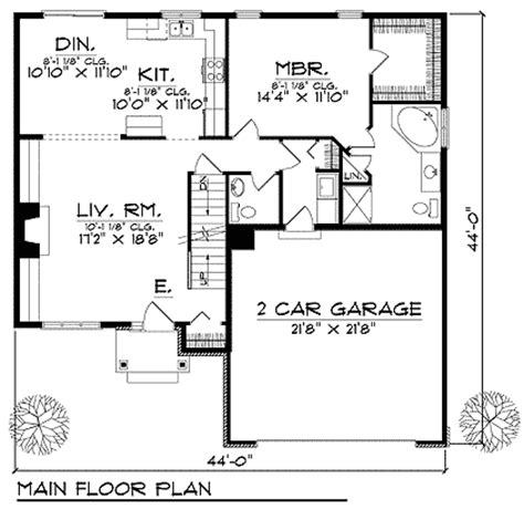 House Plan 73221 Contemporary Style with 1933 Sq Ft 4