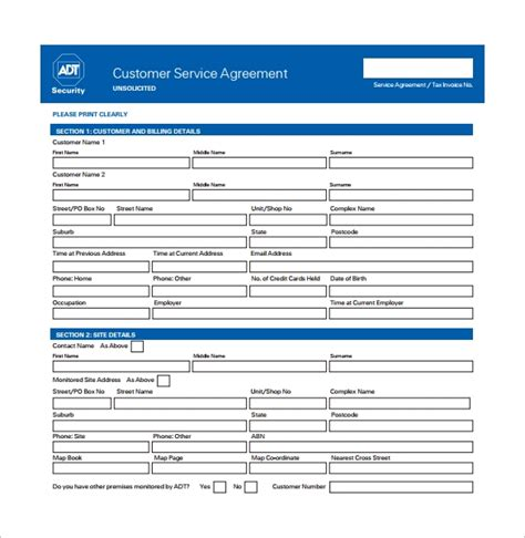 sample service contract templates   sample