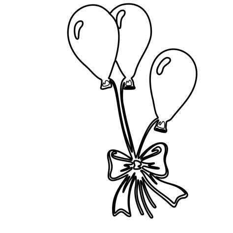 balloon coloring pages free coloring pages of balloons