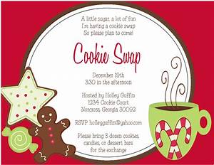 the sweet peach paperie cookie exchange invitations and With cookie swap invitation template