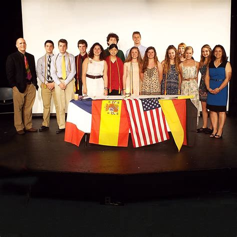 world language honor societies induct students conval regional high