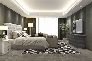 Luxury, Modern, Bedroom, Suite, In, Hotel, With, Carpet, 3d, Model, Max, 3ds, Fbx
